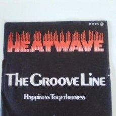 Discos de vinilo: HEATWAVE THE GROOVE LINE / HAPPINESS TOGETHERNESS ( 1978 GTO ESPAÑA ) FUNK DISCO. Lote 146955438