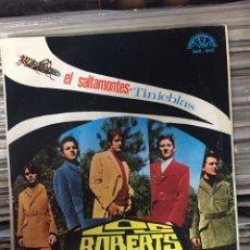 Discos de vinilo: EL SALTAMONTES. TINIEBLAS. LOS ROBERTS. Lote 146987792