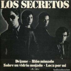 Discos de vinilo: LOS SECRETOS. DÉJAME. EP SERIE NUMERADA Nº: 2818 POLYDOR 1980. RARO. Lote 146991094