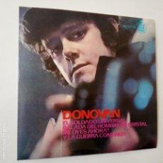 Discos de vinilo: DONOVAN- EL SOLDADO UNIVERSAL - SPAIN EP 1965 - EXC. ESTADO.. Lote 146991266