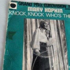 Discos de vinilo: SINGLE (VINILO) DE MARY HOPKIN AÑOS TO ( EUROVISION). Lote 147020714