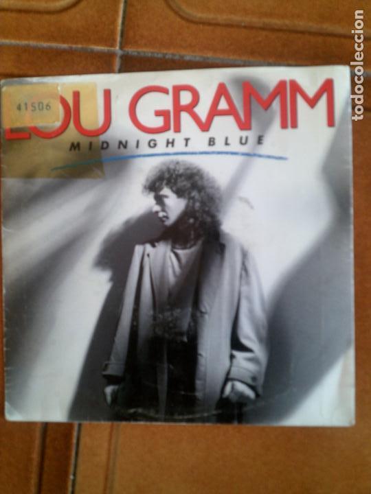 DISCO DEL CANTANTE DE HAOR LOU GRAMM ,MIDNIGHT BLUE (Música - Discos de Vinilo - Maxi Singles - Heavy - Metal)