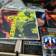 Discos de vinilo: GERMAN COPPINI Y LOS VOLUNTARIOS LP + LIBRETO AMERICA HERIDA 2013 FALTA EL CD. Lote 147061265