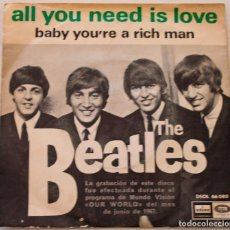 Discos de vinilo: THE BEATLES - ALL YOU NEED IS LOVE ODEON - 1967. Lote 147065086