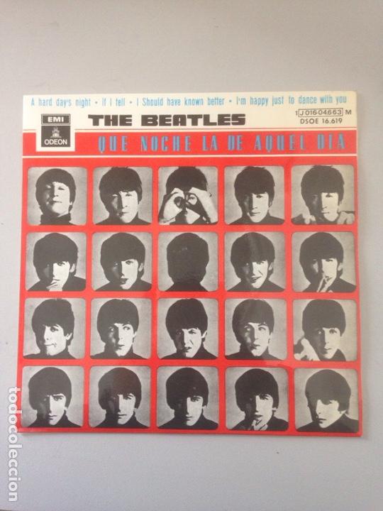 THE BEATLES - QUE NOCHE LA DE AQUEL DIA (Musik - Vinyl-Schallplatten - Maxi-Singles - Rock & Roll)