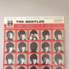 Discos de vinilo: THE BEATLES - QUE NOCHE LA DE AQUEL DIA. Lote 147066712