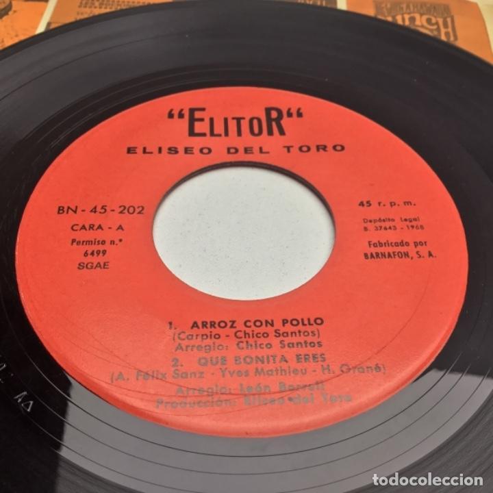 Discos de vinilo: ELITOR - ELISEO DEL TORO - SINGLE - ARROZ CON POLLO - Foto 2 - 147073718