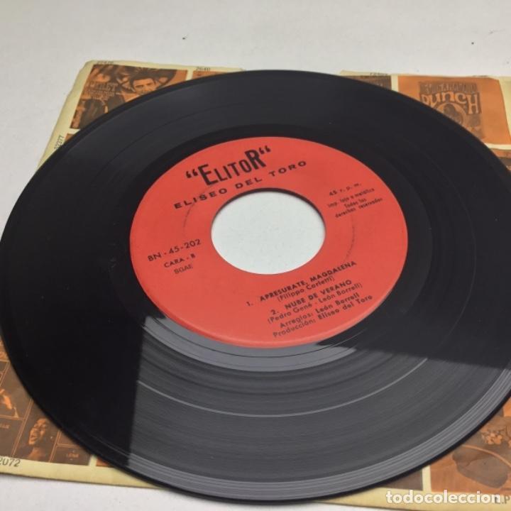 Discos de vinilo: ELITOR - ELISEO DEL TORO - SINGLE - ARROZ CON POLLO - Foto 3 - 147073718