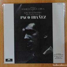 Discos de vinilo: PACO IBAÑEZ - POEMAS DE FEDERICO GARCIA LORCA Y LUIS DE GONGORA - GATEFOLD - LP. Lote 147077377