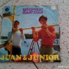 Discos de vinilo: SINGLE DE JUAN Y JUNIOR ,NOS FALTA FE ,BAJO EL SOL. Lote 147083718