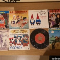 Discos de vinilo: 8 DISCOS LA PANDILLA, DAVID EL GNOMO, UN DOS TRES, MARCO, DARTACAN Y LOS TRES MOSQUEPERROS, ETC.. Lote 147084170