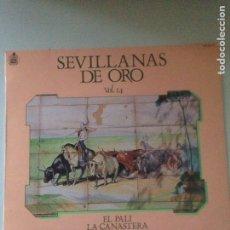 Discos de vinilo: SEVILLANAS DE ORO VOL. 14 - SPAIN LP HISPAVOX 1984. Lote 147098258