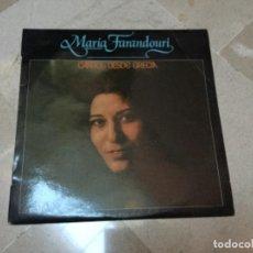 Discos de vinilo: MARIA FARANDOURI - CANTOS DESDE GRECIA . Lote 147098534