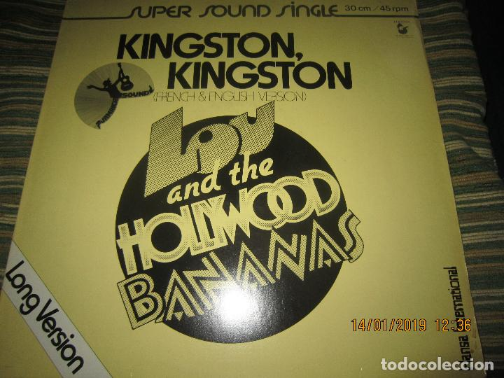 LOU AND THE HOLLYWOOD BANANAS - KINGSTON KINGSTON MAXI 45 SUPER SOUND SINGLE - HANSA 1979 - ALEMAN (Música - Discos de Vinilo - Maxi Singles - Reggae - Ska)