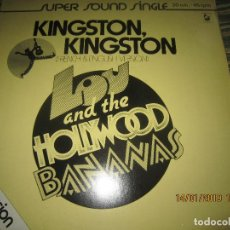 Discos de vinilo: LOU AND THE HOLLYWOOD BANANAS - KINGSTON KINGSTON MAXI 45 SUPER SOUND SINGLE - HANSA 1979 - ALEMAN . Lote 147123814