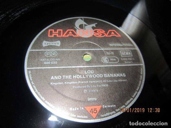 Discos de vinilo: LOU AND THE HOLLYWOOD BANANAS - KINGSTON KINGSTON MAXI 45 SUPER SOUND SINGLE - HANSA 1979 - ALEMAN - Foto 5 - 147123814