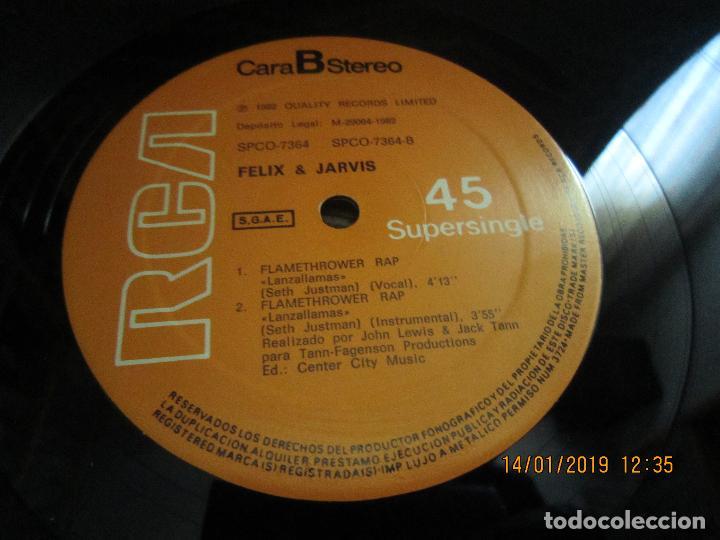 Discos de vinilo: FELIX & JARVIS - FLAMETHROWER RAP - MAXI 45 R.P.M. RCA 1982 ORIGINAL ESPAÑOL - - Foto 5 - 147124882