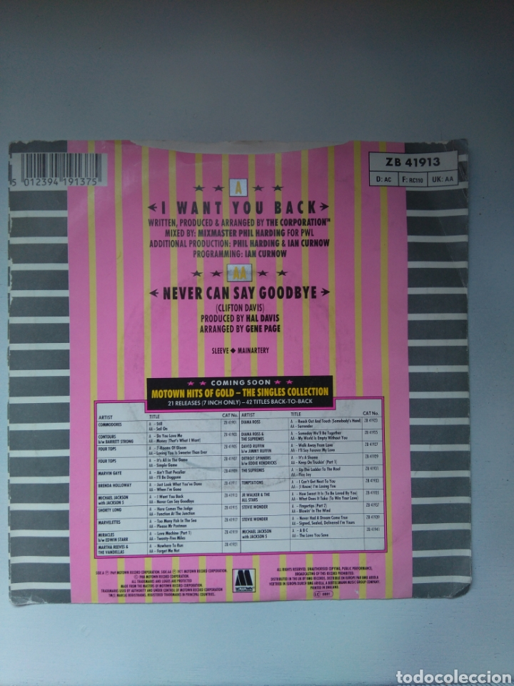 Discos de vinilo: Michael Jackson with the Jackson 5 - 1988 remix - Single vinilo - Foto 3 - 147155273
