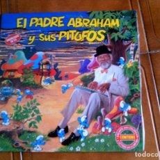 Discos de vinilo: LP EL PADRE ABRAHAM Y SUS PITUFOS AÑO 1991. Lote 147157322