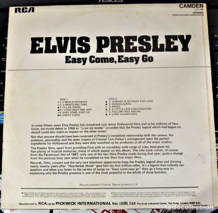 Discos de vinilo: ELVIS PRESLEY - EASY COME EASY GO - LP / RCA CAMDEN UK - PUBLICADO 1975 - Foto 2 - 147157922