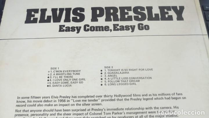 Discos de vinilo: ELVIS PRESLEY - EASY COME EASY GO - LP / RCA CAMDEN UK - PUBLICADO 1975 - Foto 3 - 147157922