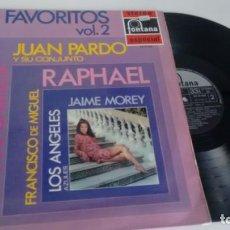 Disques de vinyle: LP ( VINILO) MIS FAVORITOS VOL2 (MIGUEL RIOS.JUAN PARDO-JUNIOR-LOS SONOR-LOS RELAMPAGOS...). Lote 147166714