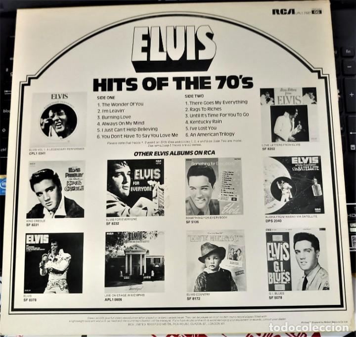 Discos de vinilo: ELVIS PRESLEY - HITS OF THE 70'S - LP / RCA - PUBLICADO 1977 - Foto 3 - 147168434