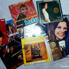 Discos de vinilo: COLECCION EUROVISION - 10 SINGLES ORIGINALES. Lote 146510706