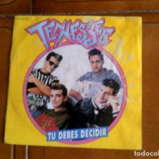 Discos de vinilo: SINGLE DEL GRUPO TENESSE ,TU DEBES DECIDIR. Lote 147184290