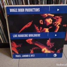 Discos de vinilo: BOOGIE DOWN PRODUCTIONS - LIVE HARDCORE WORLDWIDE (LP) . Lote 147184362