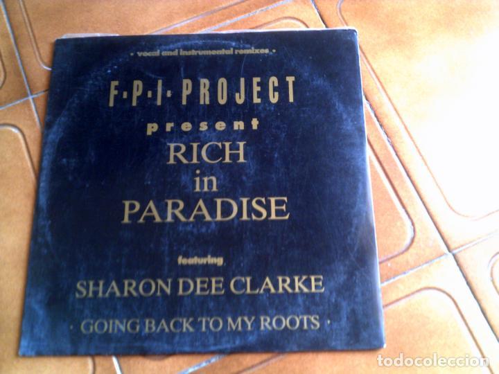 DISCO DE F,P,I PROJECT TEMA RICH IN PARADISE (Música - Discos de Vinilo - Maxi Singles - Techno, Trance y House)