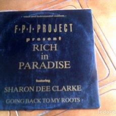 Discos de vinilo: DISCO DE F,P,I PROJECT TEMA RICH IN PARADISE. Lote 147186150