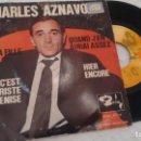 Discos de vinilo: E P (VINILO) DE CHARLES AZNAVOUR AÑOS 60. Lote 147190902