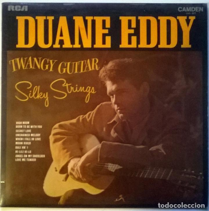 DUANE EDDY. TWANGY GUITAR SILKY STRINGS. RCA-CAMDEN, UK 1970 LP (Música - Discos de Vinilo - EPs - Rock & Roll)