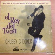 Discos de vinilo: EP CHUCBBY CHECKER EDITADO EN ESPAÑA EL REY DEL TWIST . Lote 147214658