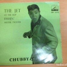 Discos de vinilo: EP CHUCBBY CHECKER EDITADO EN ESPAÑA THE JET/ AT THE HOP/ FISHIN / MISTER TWISTER. Lote 147214798