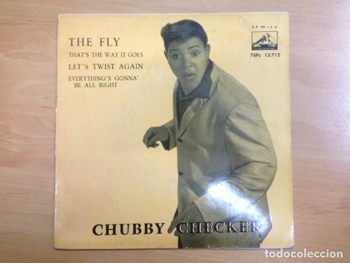 EP CHUCBBY CHECKER EDITADO EN ESPAÑA THE FLY/THAT'S THE WAY IT GOES/LET'S TWIST AGAIN (Música - Discos de Vinilo - EPs - Jazz, Jazz-Rock, Blues y R&B)