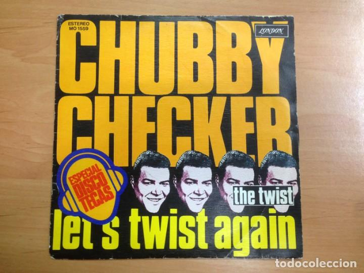 SINGLE CHUBBY CHECKER EDITADO EN ESPAÑA - LET'S TWIST AGAIN/ THE TWIST (Música - Discos - Singles Vinilo - Jazz, Jazz-Rock, Blues y R&B)