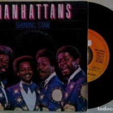Discos de vinilo: MANHATTANS - SHINING STAR / I'LL NEVER RUN AWAY FROM LOVE AGAIN - SINGLE 1980 - CBS. Lote 147216366