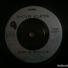 Discos de vinilo: WHITNEY HOUSTON - RUN TO YOU / AFTER WE MAKE LOVE - SINGLE UK 1990 - ARISTA. Lote 147220770