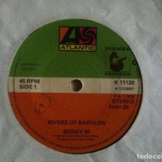 Discos de vinilo: BONEY M - RIVERS OF BABYLON + BROWN GIRL IN THE RING - SINGLE 1978 - ATLANTIC. Lote 147224654