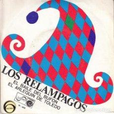 Discos de vinilo: LOS RELAMPAGOS - EL BAILE DEL BUFON - SINGLE DE VINILO. Lote 147225790