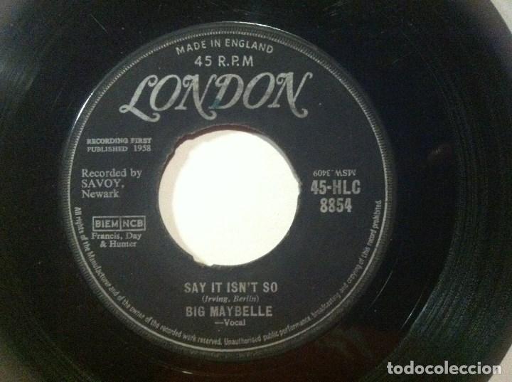 BIG MAYBELLE - SAY IT ISN´T SO / BABY WONT YOU PLASE - SINGLE UK 1958 - LONDON (Música - Discos - Singles Vinilo - Jazz, Jazz-Rock, Blues y R&B)