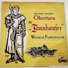 Discos de vinilo: SINGLE OBERTURA DE RICHARD WAGNER DE 1958 . Lote 147238794