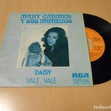 Discos de vinilo: MARY CARMEN Y SUS MUÑECOS SINGLE DAISY + RODOLFO 1975. Lote 147242146