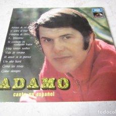 Discos de vinilo: ADAMO CANTA EN ESPAÑOL ACOMPAÑADO POR ORQUESTA LP - LA VOZ DE SU AMO 1968. Lote 147266578