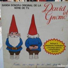 Discos de vinilo: DAVID EL GNOMO - BANDA SONORA ORIGINAL DE LA SERIE DE TV - LP. DEL SELLO ARIOLA 1985. Lote 147280030