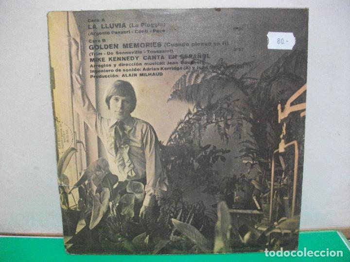 Discos de vinilo: MIKE KENNEDY - LA LLUVIA / GOLDEN MEMORIES (SINGLE ESPAÑOL, BARCLAY 1969) - Foto 2 - 147312838
