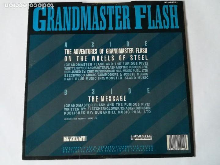 Discos de vinilo: Grandmaster Flash & The Furious Five - The Adventures Of Grandmaster Flash On The Wheels Of - 1988 - Foto 2 - 147314482