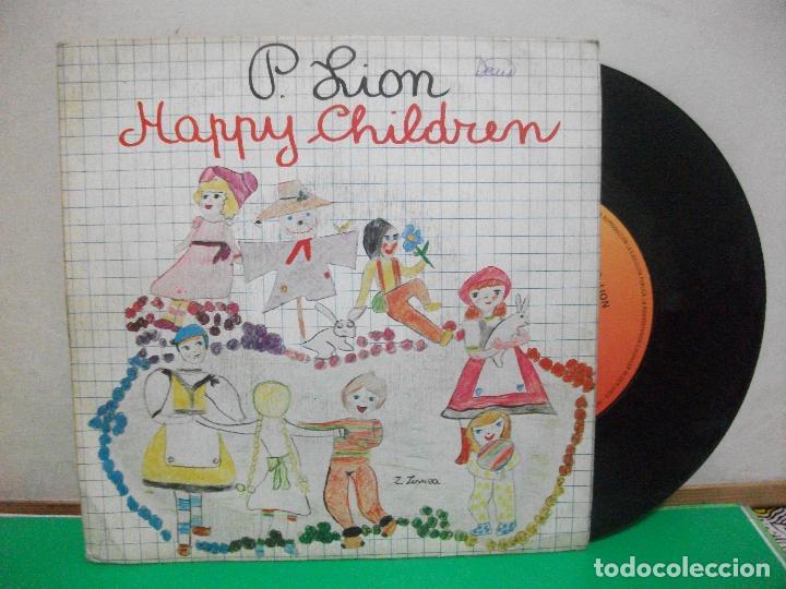 P.LION, HAPPY CHILDREN, SINGLE ITALO-DISCO SPAIN 1983 (Música - Discos - Singles Vinilo - Disco y Dance)